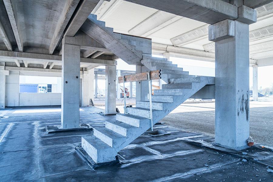 Cave Nord, Bologna, 2018, scale prefabbricate| BI Engineering
