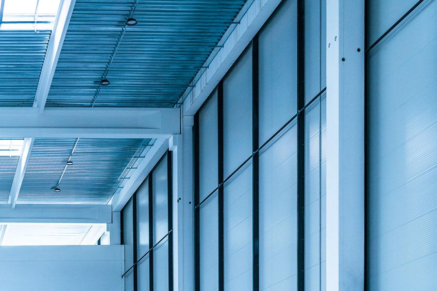 Sittam, 2017, Verona, tipologia della copertura: soluzione mista con travi – arcarecci – lamiere grandi luci | BI Engineering