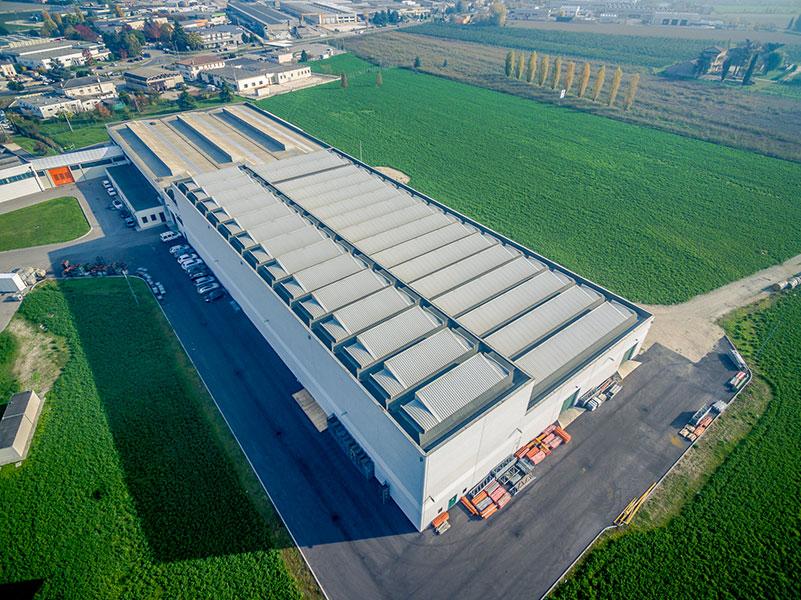 Zambello Riduttori, Rovigo, 2014, Complesso industriale formato da zona lavorazione e magazzino verticale |BI Engineering