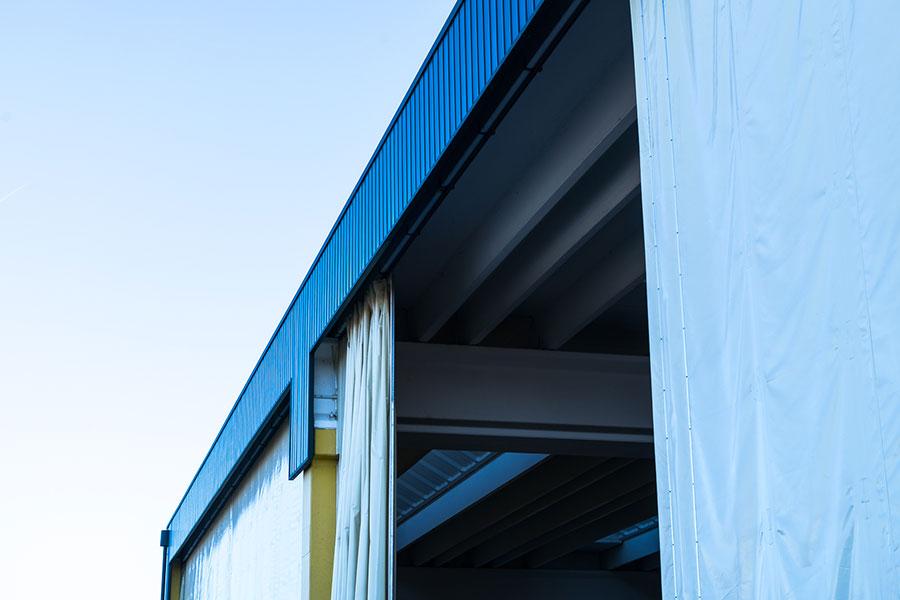 DVP, 2011, Bologna, struttura della tettoia di scarico con maniglia 20x25m. | BI Engineering