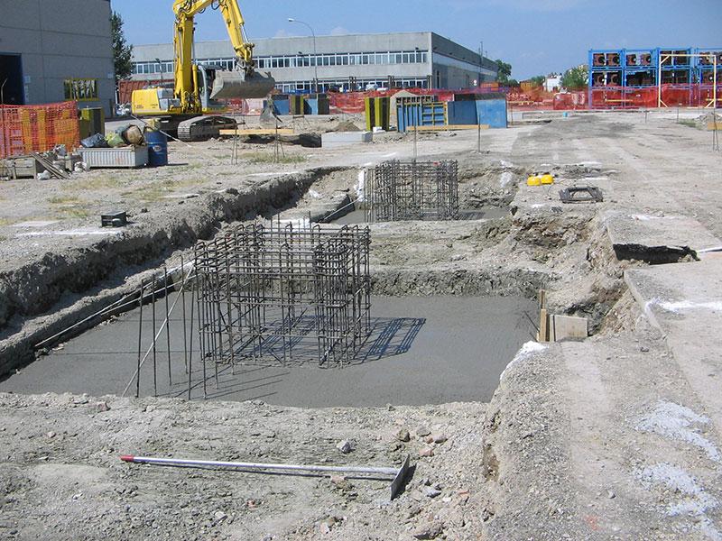 Opere di fondazioni dirette con plinto a bicchiere | BI engineering
